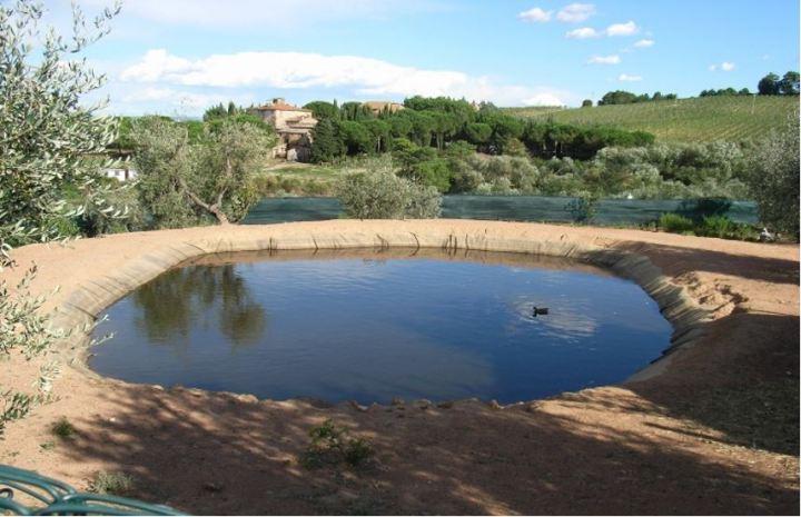 Bacini artificiali per riserva idrica irrigazione e for Teli per stagni